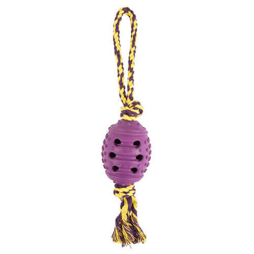 Pet Brands Rope Loop & Rubber Ball Dog Toy