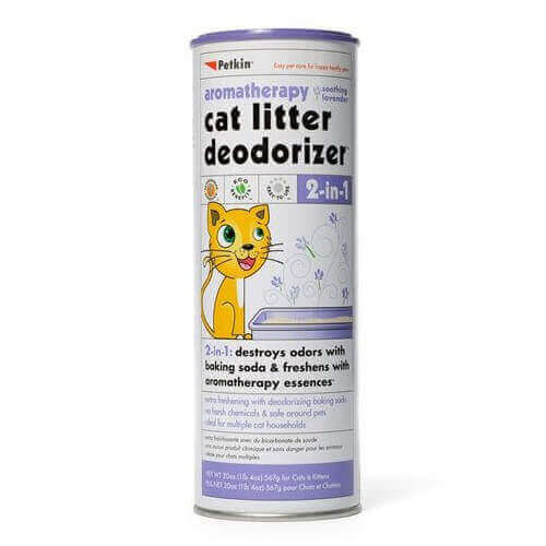 Petkin Cat Litter Deodorizer Lavender 2 in 1,567gm