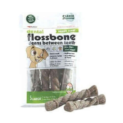 Petkin Dental Flossbone Veggie Treat Large