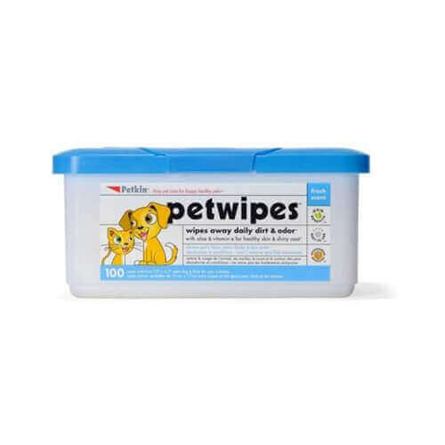 Petkin Petwipes for Cats and Dogs (100 Pieces)