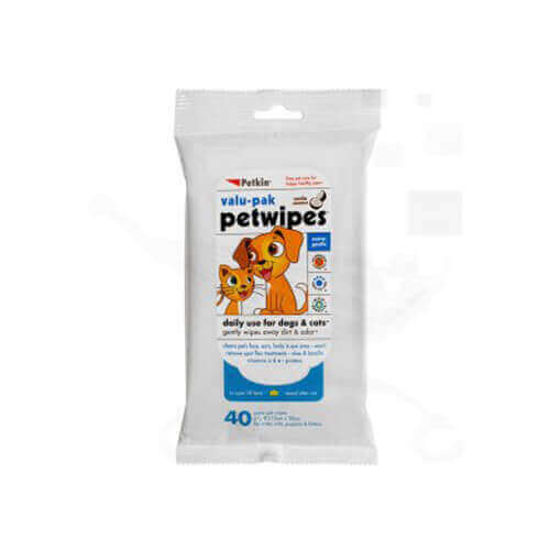 Petkin Petwipes Value Pak 40 Wipes