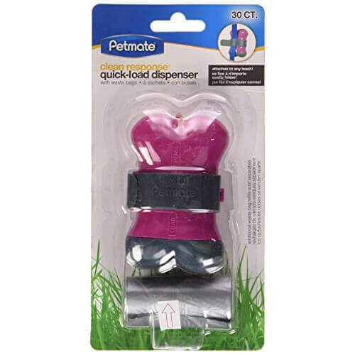 Petmate 71076 Clean Response Pets Bone Dispenser with 30 Bags, Pink