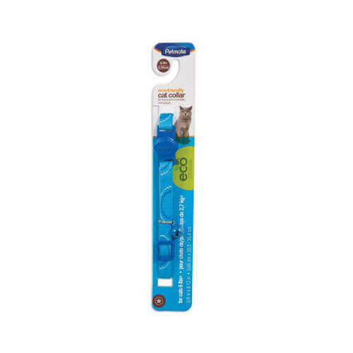 Petmate 8-12-Inch Eco Friendly Breakaway Circle Cat Collar, Blue