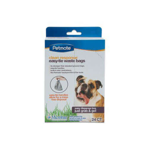 Petmate Clean Response Handle-Tie 24Ct Waste Bags
