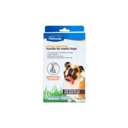 Petmate Clean Response Handle-Tie 75Ct Waste Bags