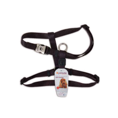 Petmate Deluxe Signature Adjustable Harness Medium (Black)