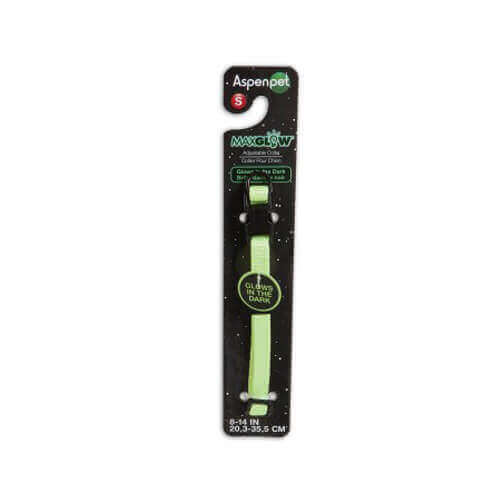 Petmate Glow-In Dark Adjustable Collar(Green)