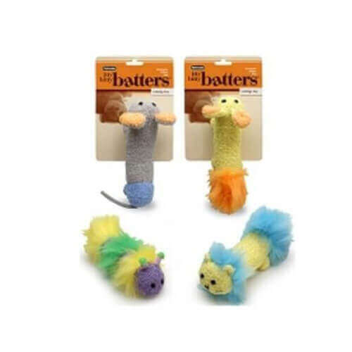 Petmate  Itty Bitty Batter Mouse Activity Cat Toy (Pack of 3)