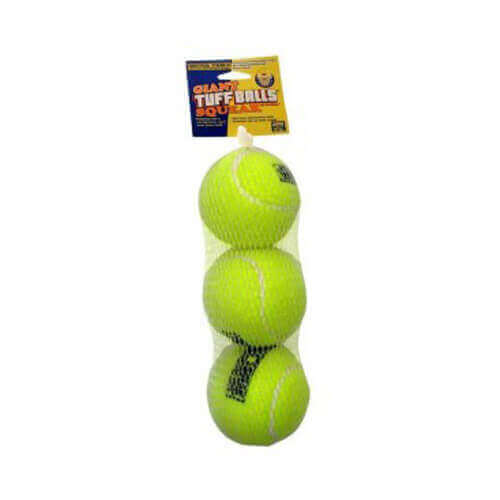 Petsport Tuff Ball Squeak 3PK Mesh Small