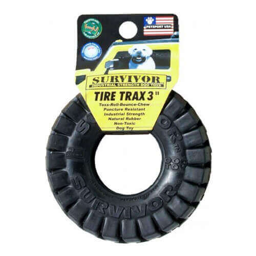 Petsport USA Survivor Tire Trax Dog Toy, Small