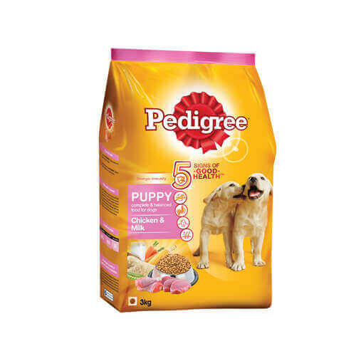 Pedigree Puppy Dog Food Chicken Milk 3 kg Pack