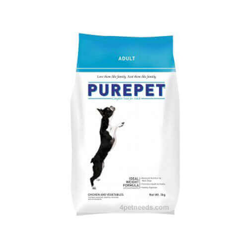 Purepet Adult Chicken And Vegetables 3 Kg Dog Food