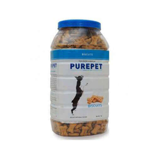 Purepet Biscuits With Real Chicken 500 Gm