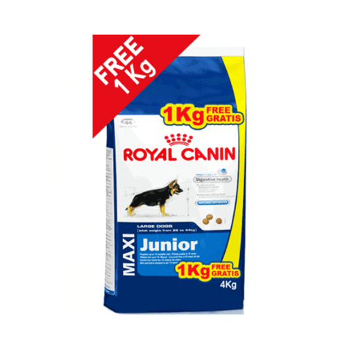 Royal Canin Maxi Junior 3kg + 1kg Free