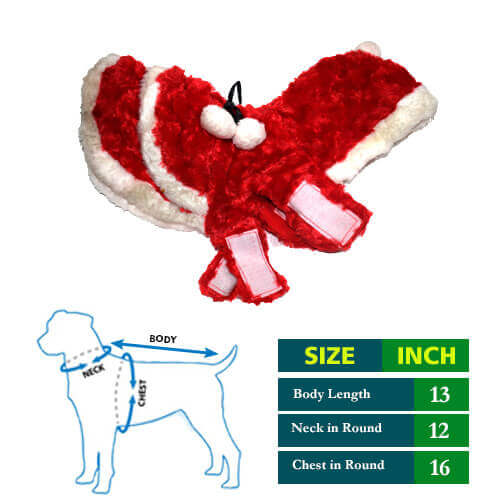 Santa Dog Puppy Coat with cap 13 no