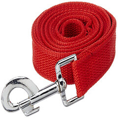ADJUSTABLE DOG LEASH LARGE RED