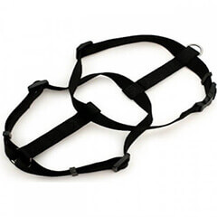 ASPEN PET NYLON DOG HARNESS BLACK