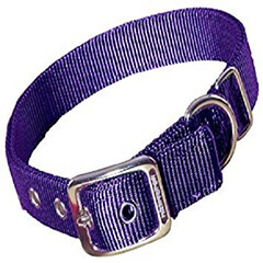 PETMATE NYLON ADJUSTABLE DOG COLLAR PURPLE