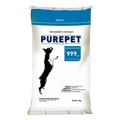 Purepet Chicken & Vegetables Adult Dog Food 10 KG