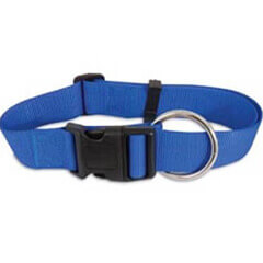 PETMATE NYLON ADJUSTABLE DOG COLLAR BLUE
