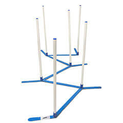 Agility Weave Poles Adjustable 6 Pole Set