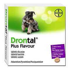 Bayer Drontal Plus Deworming Tablets for Dogs Pack of 10
