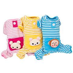 Dog Cat Puppy Soft Striped Pajamas