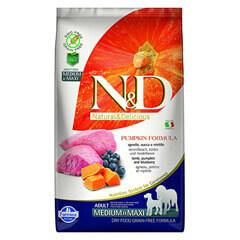 Farmina N&D Pumpkin Grain Free Lamb and Blueberry Adult Dog Food 2.5 kg- Medium and Maxi