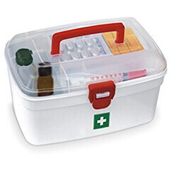 First Aid Emergency Medical Kit Box