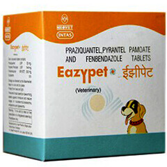 Intas Eazypet Dewormers For Dog & Cat 10 Tablets