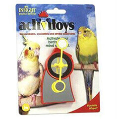 JW Pet Company Activitoy Roulette Wheel Small Bird Toy, Colors Vary