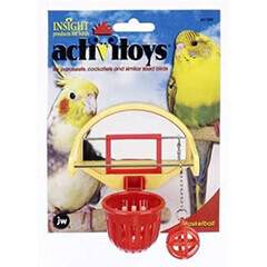 JW Pet Company Activitoys Birdie Basketball Bird Toy