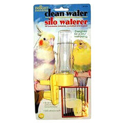 JW Pet Company Clean Water Silo Waterer Bird Accessory Regular Colors Vary