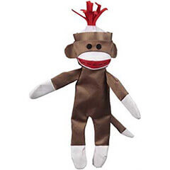 JW Pet Company Crackle Heads Canvas Monkey Dog Toy Large