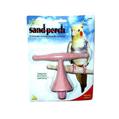 JW Pet Company Insight Sand Perch T Perch Bird Accessory Regular Assorted Colors
