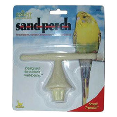 JW Pet Company Insight Sand Perch T Perch Bird Accessory Small Colors Vary