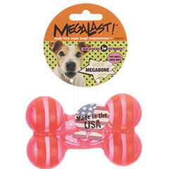 JW Pet Company Megalast Bone Dog Toy Small Colors Vary