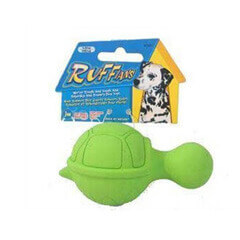 JW Pet Company Ruffians Turtle Dog Toy Small Colors Vary