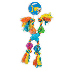 JW Pet Company X-Pod Treat Rope with Squeaker Small