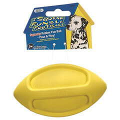 JW Pet Company iSqueak Funble Football Dog Toy Small Colors Vary