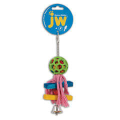JW Pet Hol-ee Roller Pom Pom Bird Toy 9 Length