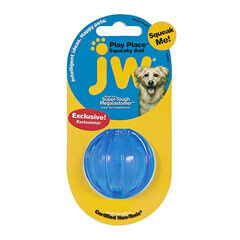 JW Pet Playplace Squeaky Ball  Small color may vary