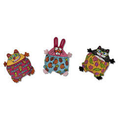 Fat Cat Kitty Kahuna Zoom Surfers Bunny (Assorted)