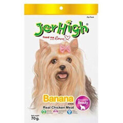 JerHigh Fruity Banana Stick Dog Treats 70 gms