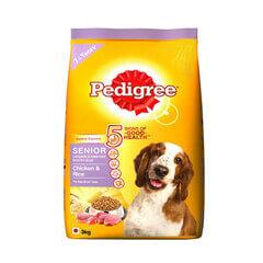 Pedigree Senior Dog Food Chicken & Rice- 3 KG
