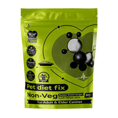Pet Diet Fix Non Veg home food recipe- Nutrition Mix for Adult & Elder Canines 30gm(Pack of 4)