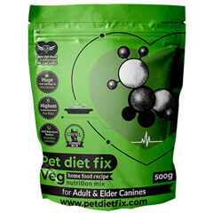 Pet Diet Fix Veg home food recipe- Nutrition Mix for Adult & Elder Canines 500gm