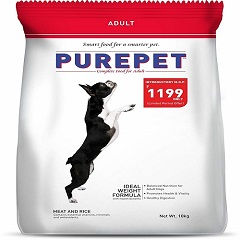 Purepet Meat and Rice Dog Adult, 10kg