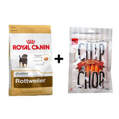 ROYAL CANIN ROTTWEILER JUNIOR 3KG+Free Dog Snacks