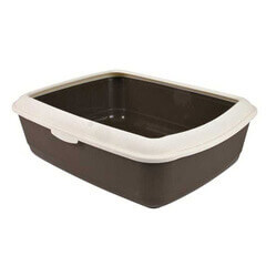 Trixie Classic Cat Litter Tray with Rim (Brown/Cream)